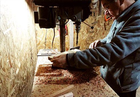 Perforado y calado de madera